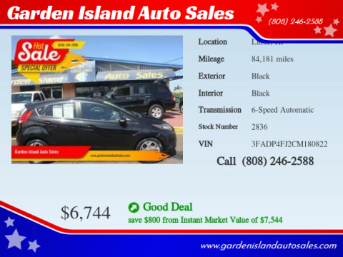 2012 Ford Fiesta for sale at Garden Island Auto Sales in Lihue HI