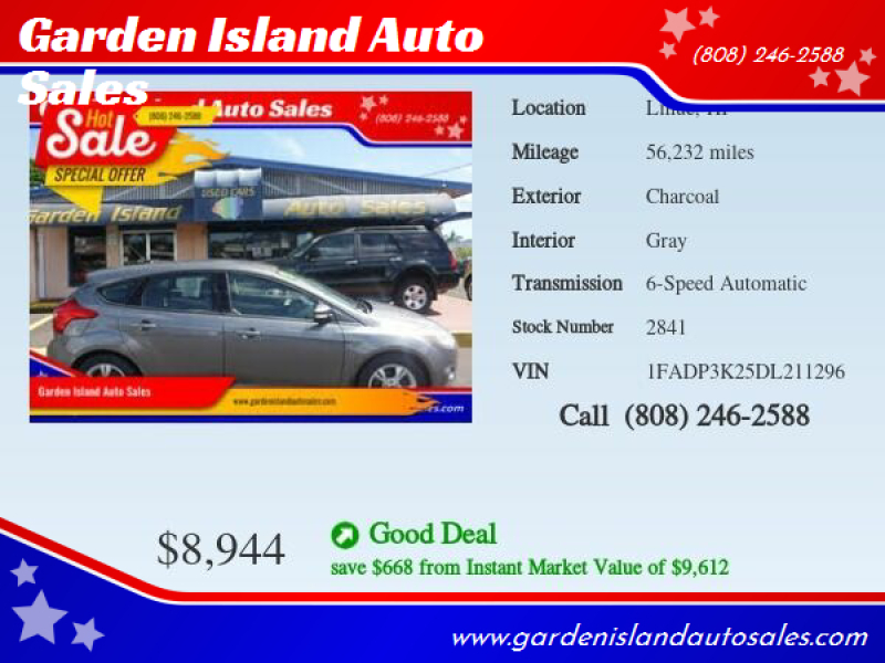 2013 Ford Focus for sale at Garden Island Auto Sales in Lihue HI