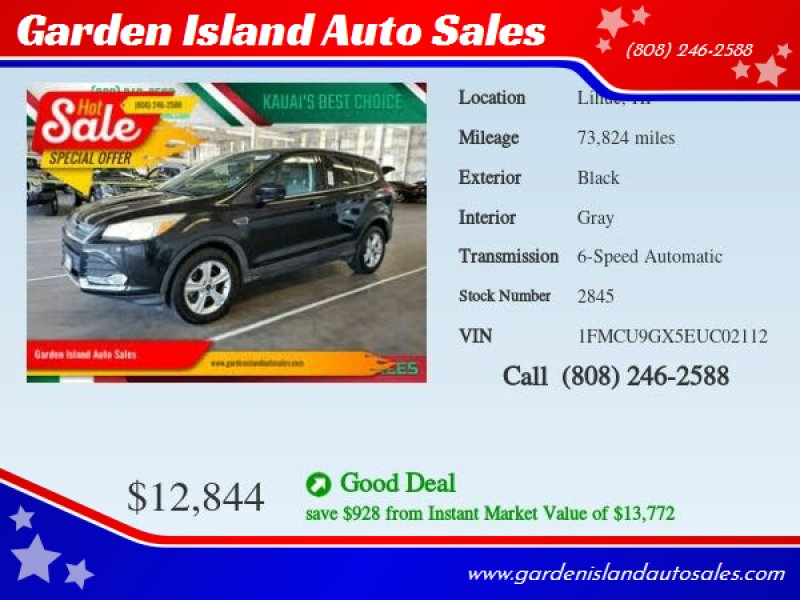 2014 Ford Escape for sale at Garden Island Auto Sales in Lihue HI