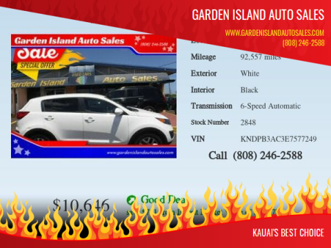 2014 Kia Sportage for sale at Garden Island Auto Sales in Lihue HI
