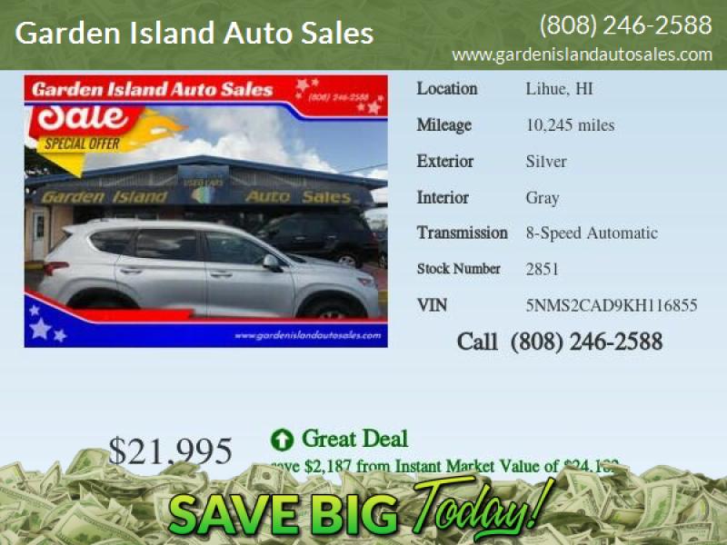 2019 Hyundai Santa Fe for sale at Garden Island Auto Sales in Lihue HI