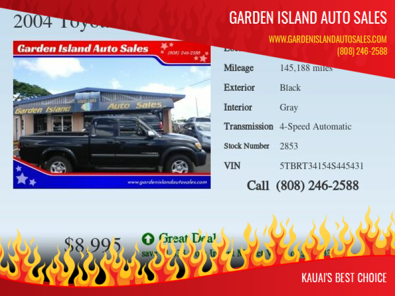 2004 Toyota Tundra for sale at Garden Island Auto Sales in Lihue HI
