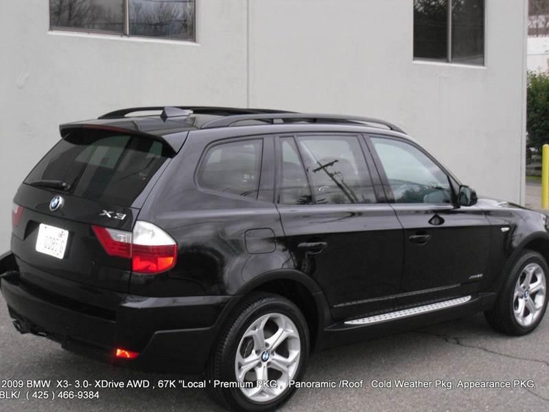 2009 Bmw X3 AWD XDrive30i 4dr SUV In Kirkland WA