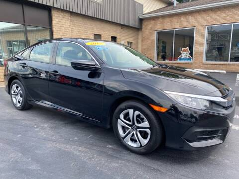 2017 Honda Civic for sale at C Pizzano Auto Sales in Wyoming PA
