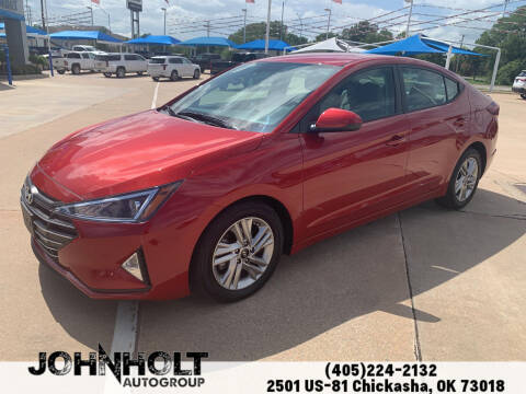2019 Hyundai Elantra for sale at JOHN HOLT AUTO GROUP, INC. in Chickasha OK