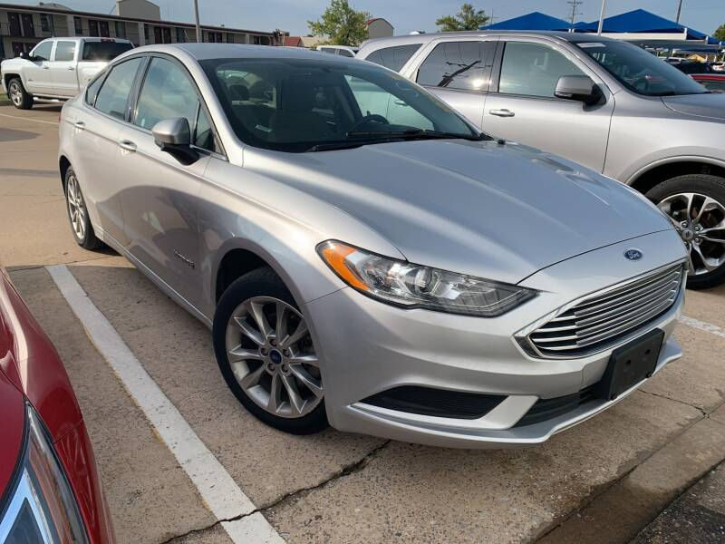 2017 Ford Fusion Hybrid for sale at JOHN HOLT AUTO GROUP, INC. in Chickasha OK