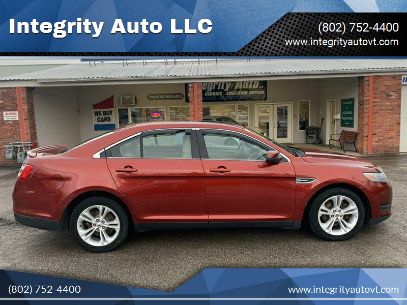 2014 Ford Taurus for sale at Integrity Auto LLC in Sheldon VT