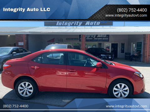 2016 Toyota Corolla for sale at Integrity Auto LLC - Integrity Auto 2.0 in St. Albans VT
