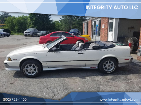 1988 Chevrolet Cavalier for sale at Integrity Auto LLC - Integrity Auto 2.0 in St. Albans VT