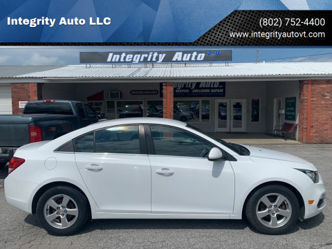 2015 Chevrolet Cruze for sale at Integrity Auto LLC - Integrity Auto 2.0 in St. Albans VT