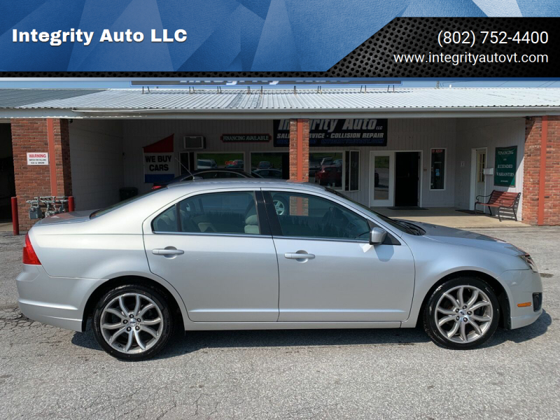 2011 Ford Fusion for sale at Integrity Auto LLC in Sheldon VT