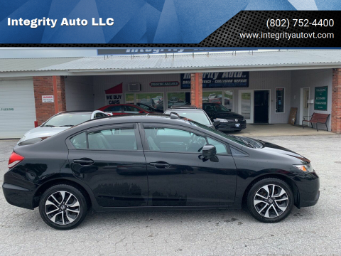2015 Honda Civic for sale at Integrity Auto LLC - Integrity Auto 2.0 in St. Albans VT