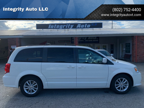 2013 Dodge Grand Caravan for sale at Integrity Auto LLC - Integrity Auto 2.0 in St. Albans VT