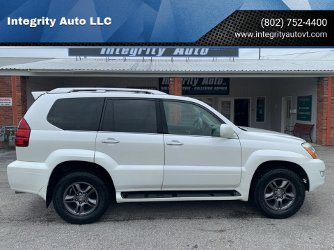 2009 Lexus GX 470 for sale at Integrity Auto LLC - Integrity Auto 2.0 in St. Albans VT