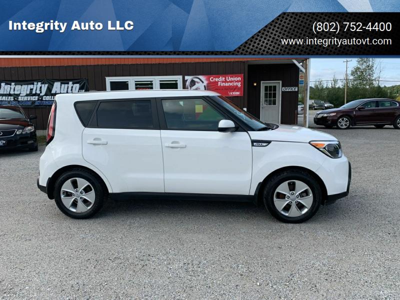 2016 Kia Soul for sale at Integrity Auto LLC in Sheldon VT