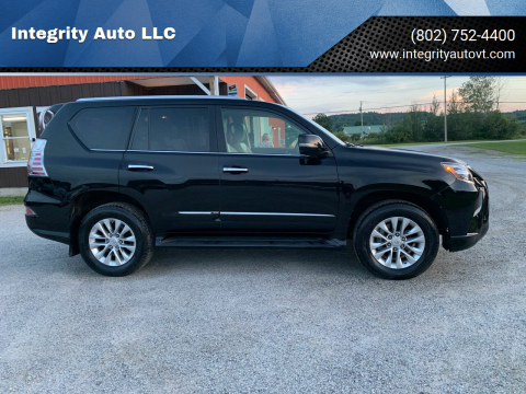 2014 Lexus GX 460 for sale at Integrity Auto LLC in Sheldon VT