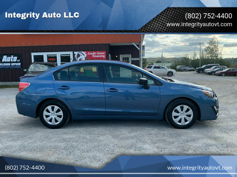 2015 Subaru Impreza for sale at Integrity Auto LLC in Sheldon VT