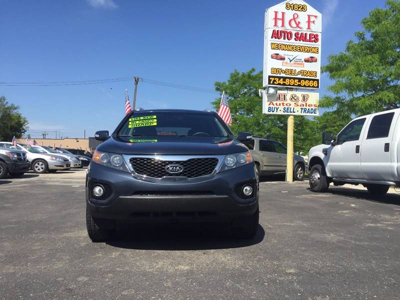2011 kia sorento lx 4dr suv in wayne mi h f auto sales. Black Bedroom Furniture Sets. Home Design Ideas
