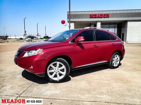 2012 Lexus RX 350 for sale at Meador Dodge Chrysler Jeep RAM in Fort Worth TX
