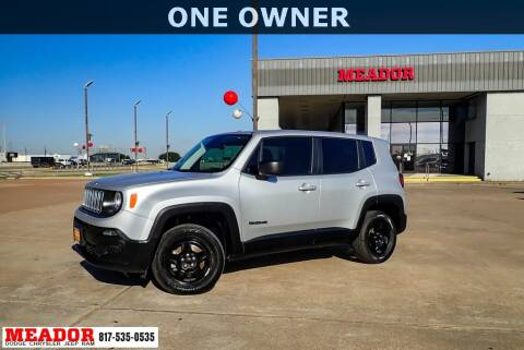 2018 Jeep Renegade for sale at Meador Dodge Chrysler Jeep RAM in Fort Worth TX
