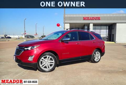 2018 Chevrolet Equinox for sale at Meador Dodge Chrysler Jeep RAM in Fort Worth TX