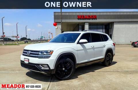 2019 Volkswagen Atlas for sale at Meador Dodge Chrysler Jeep RAM in Fort Worth TX