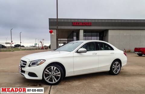 2018 Mercedes-Benz C-Class for sale at Meador Dodge Chrysler Jeep RAM in Fort Worth TX