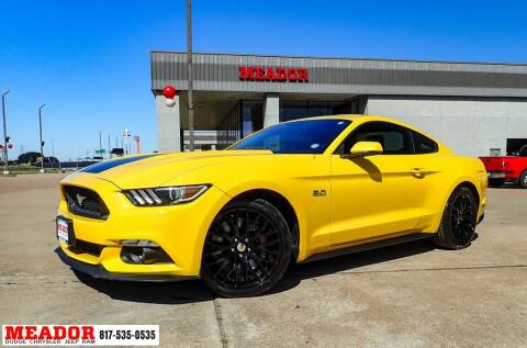 2015 Ford Mustang for sale at Meador Dodge Chrysler Jeep RAM in Fort Worth TX