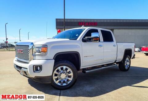 2016 GMC Sierra 2500HD for sale at Meador Dodge Chrysler Jeep RAM in Fort Worth TX