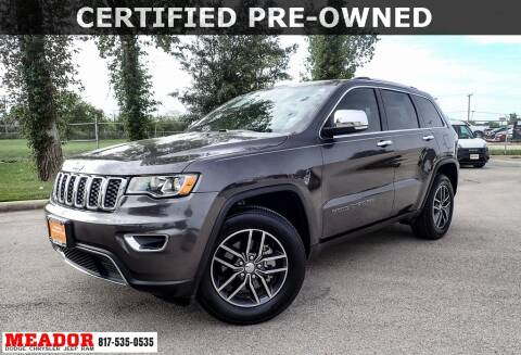 2018 Jeep Grand Cherokee for sale at Meador Dodge Chrysler Jeep RAM in Fort Worth TX