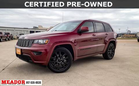 2017 Jeep Grand Cherokee for sale at Meador Dodge Chrysler Jeep RAM in Fort Worth TX