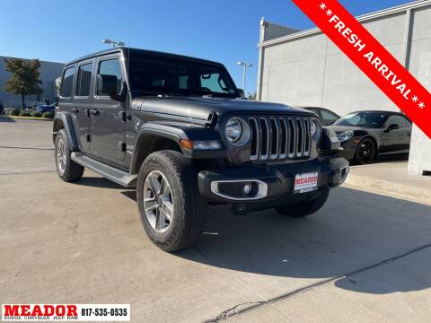 2018 Jeep Wrangler Unlimited for sale at Meador Dodge Chrysler Jeep RAM in Fort Worth TX
