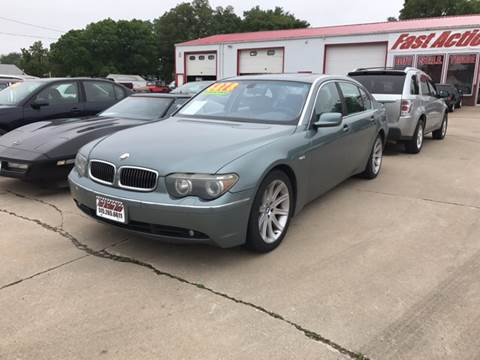 2003 BMW 7 Series for sale at Fast Action Auto in Des Moines IA