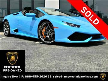 2016 Lamborghini Huracan for sale in Greensboro, NC