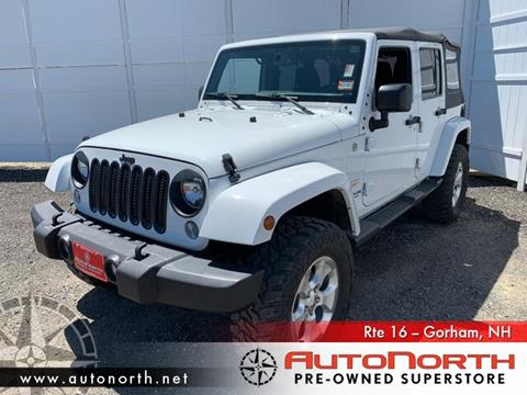 2015 Jeep Wrangler Unlimited for sale in Gorham, NH