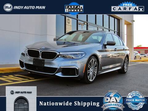 2018 BMW 5 Series for sale at INDY AUTO MAN in Indianapolis IN