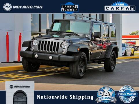 2016 Jeep Wrangler Unlimited for sale at INDY AUTO MAN in Indianapolis IN