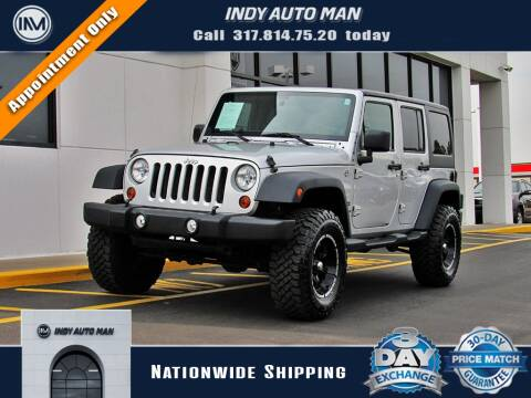2011 Jeep Wrangler Unlimited for sale at INDY AUTO MAN in Indianapolis IN