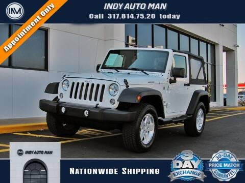 2015 Jeep Wrangler for sale at INDY AUTO MAN in Indianapolis IN