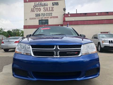 2012 Dodge Avenger for sale at Julian Auto Sales, Inc. in Warren MI