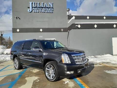 2011 Cadillac Escalade ESV Platinum Edition for sale at Julian Auto Sales, Inc. in Warren MI