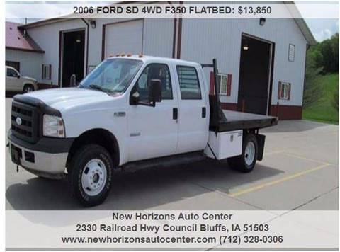 2006 FORD SD 4WD F350 FLATBED for sale in Council Bluffs, IA