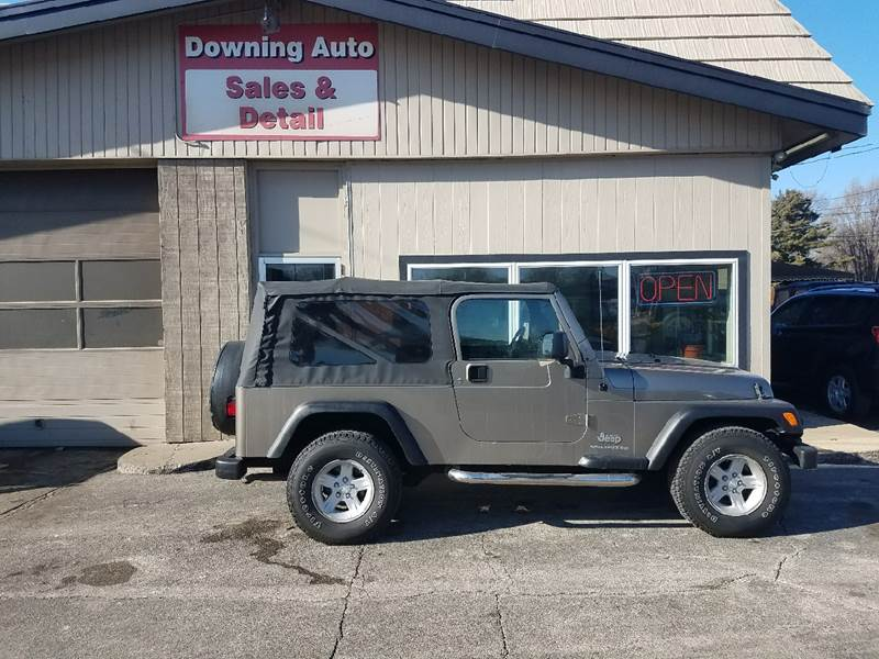 Great 2004 Jeep Wrangler Unlimited 4WD 2dr SUV   Des Moines IA