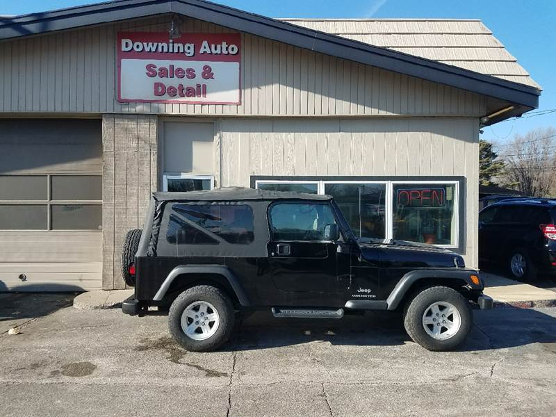 2004 jeep wrangler unlimited 4wd 2dr suv in des moines ia downing auto sales detail. Black Bedroom Furniture Sets. Home Design Ideas