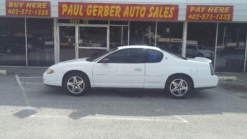 2000 Chevrolet Monte Carlo for sale at Paul Gerber Auto Sales in Omaha NE