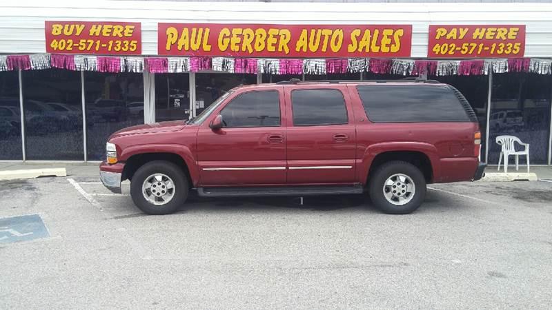 2002 Chevrolet Suburban for sale at Paul Gerber Auto Sales in Omaha NE