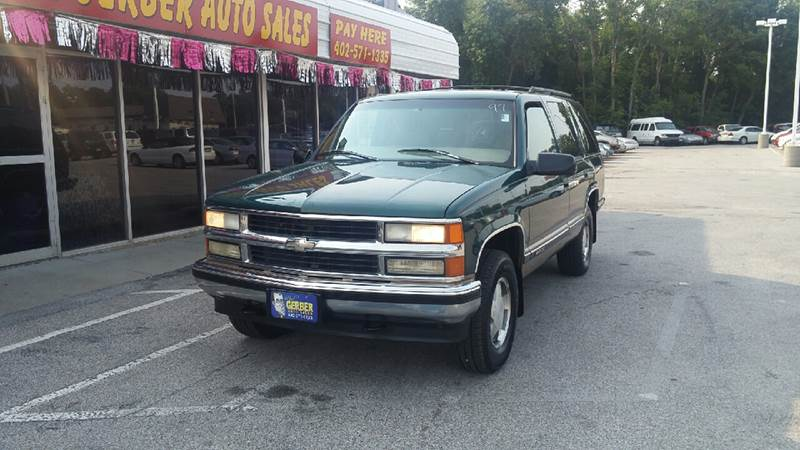 1997 Chevrolet Tahoe for sale at Paul Gerber Auto Sales in Omaha NE