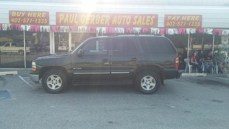 2003 Chevrolet Tahoe for sale at Paul Gerber Auto Sales in Omaha NE