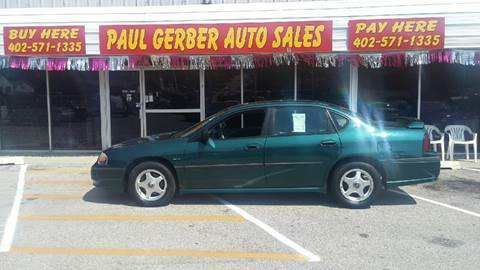 2001 Chevrolet Impala for sale at Paul Gerber Auto Sales in Omaha NE