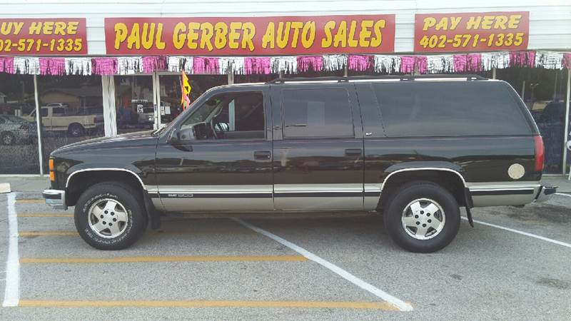 1999 GMC Suburban for sale at Paul Gerber Auto Sales in Omaha NE